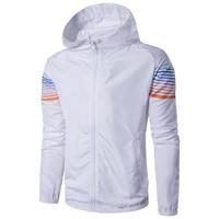 Polyester   Cotton Men Outdoor Jacket regular printed patchwork