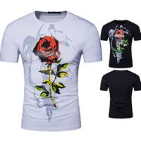 Cotton Men Short Sleeve T-Shirt printed floral