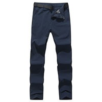 Nylon   Spandex Plus Size Men Quick Dry Pants with belt Solid Sold By PC
