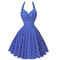 Polyester   Cotton One-piece Dress printed dot Sold By PC
