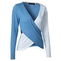 Cotton Women Long Sleeve T-shirt hollow patchwork Sold By PC