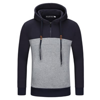 Cotton Men Sweatshirts patchwork Solid Sold By PC