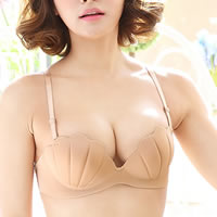 3/4 cup Nylon Invisible Bra with shoulder strap sweat absorption & breathable & seamless shell Sold By PC