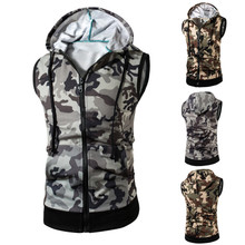 Cotton Men Vest printed camouflage Sold By PC