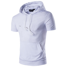 Cotton Men Short Sleeve T-Shirt plain dyed Solid Sold By PC