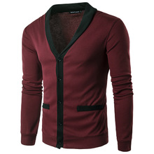 Cotton Men Cardigan knitted Solid Sold By PC