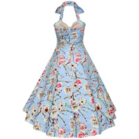 Cotton Pleated One-piece Dress printed different color and pattern for choice Sold By PC