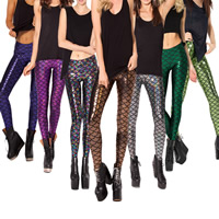 Polyester Women Pencil Pants lift the hip & slimming with Polyester printed Sold By PC
