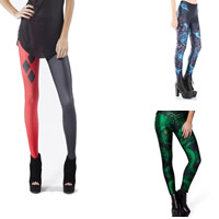 Polyester Plus Size Women Leggings lift the hip skinny & breathable with Spandex printed different pattern for choice Sold By PC