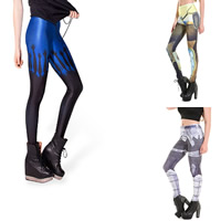 Polyester Plus Size Women Leggings lift the hip breathable with Polyester printed different pattern for choice Sold By PC