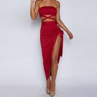 Milk Silk   Cotton Crop Top   Asymmetrical Lady Sexy Suit backless   off  shoulder   561472890