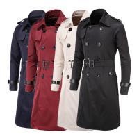 Poliéster Hombres Trench Coat, Sólido, más colores para elegir,  trozo