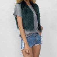 Fur Women Vest patchwork Solid Sold By PC