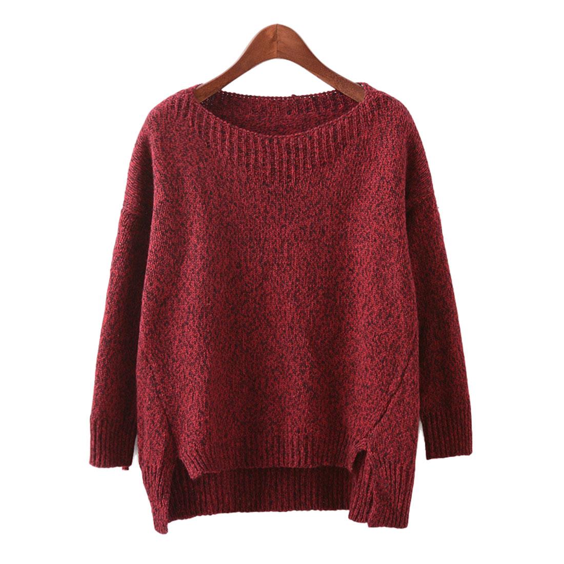 Mixed Fabric Amp Acrylic Women Sweater Slimming Amp Short