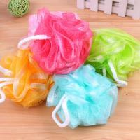 Nylon Cord & Gauze Bath Ball for bathroom & random color patchwork Sold By PC