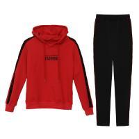 Algodón Conjunto casual de las mujeres, Pantalones largos & Camisa de entrenamiento, labor de retazos, más colores para elegir,  trozo