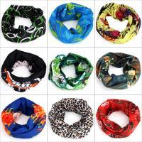Poliéster & Algodón Máscara de cuello polaina, impreso, colores mezclados, 10PCs/Mucho,  Mucho