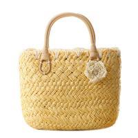Straw Handmade & Weave Handbag Cute & soft surface Solid PC
