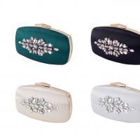Cuero de la PU & Poliéster Bolso de embrague,  Diamante de imitación, forma de la flor, más colores para elegir,  trozo