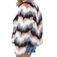 Fur Plus Size Women Coat slimming plain dyed striped PC