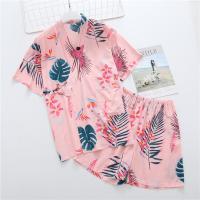 Algodón Conjunto de pijama de mujer, Pantalones & parte superior, impreso, Dibujos animados, más colores para elegir,  trozo
