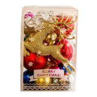 El plastico Bolas de decoración de Navidad, más colores para elegir, 30PCs/Caja,  Caja