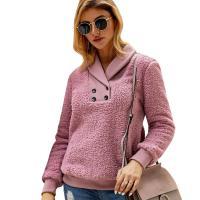 Polyester Vrouwen Sweatshirts Solide meer kleuren naar keuze stuk