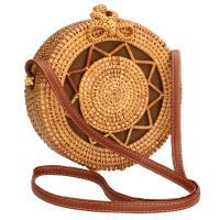 Rattan & Cotton Handmade & Easy Matching & Weave Crossbody Bag Solid PC