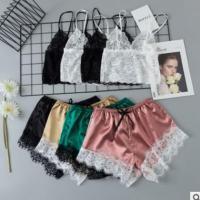 Acryl Frauen Pyjama Set, mehr Farben zur Auswahl,  Festgelegt