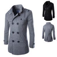 Polyester Mannen Trench Coat Solide meer kleuren naar keuze stuk