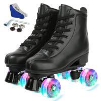 PU-leer Rolschaatsen Pvc Broek effen geverfd Solide meer kleuren naar keuze Paar