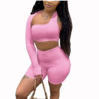 Polyester Vrouwen Casual Set Korte & Boven Solide meer kleuren naar keuze Instellen