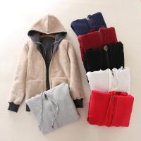 Berber Fleece Abrigo de mujer,  Algodón, labor de retazos, Sólido, más colores para elegir,  trozo